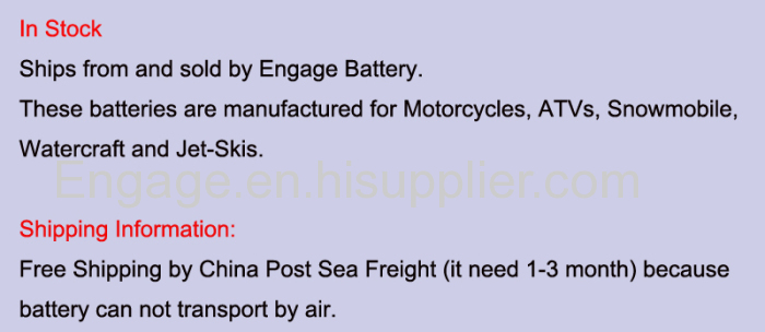12V motorcycle lithium iron battery powersports starter