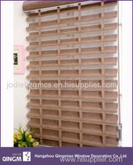 Remote Roller Blind Ladder Pattern Shangri-la Shading Blind For Wholesale