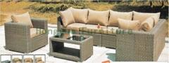 Outdoor corner rattan wicker garden sofa set furniture