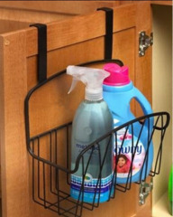 Metal Storage Basket rectangle Twist Over the Cabinet Door
