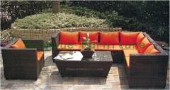 Rattan garden furniture rattan garden corner sofa set with cushions