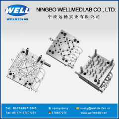two parts syringe barrel plastic injection moulds