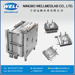 three parts syringe barrel plastic injection moulds