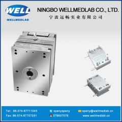 three parts safety syringe gasket plastic injection moulds