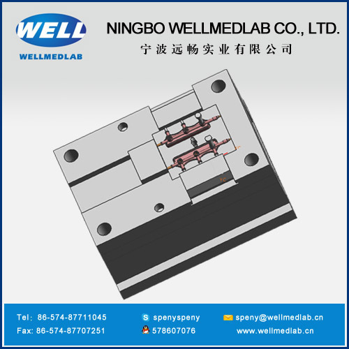 three way valve manifold plastic injection molds