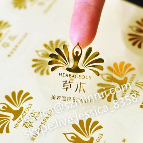 Clear custom-made product labels / colour print / personalised stickers / transparent  background /