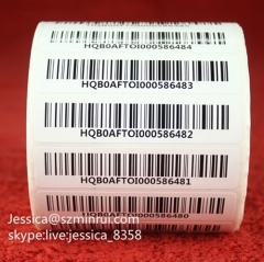 Custom Asset Barcode Labels Security Destructible Vinyl Tracing Asset Tag Labels Serial Number Barcode Sticker Labels