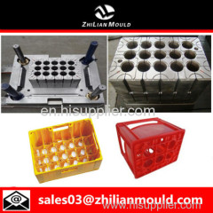 custom OEM plastic bottle crate mould with high precision in China