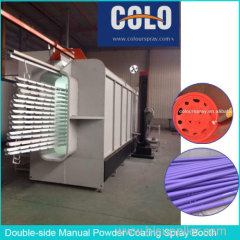 Double-side Manual Powder Coating Spray Booth