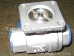 2-PC SCREWED STAINLESS STEEL BALL VALVE