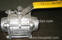 3-PC STAINLESS STEEL BALL VALVE :