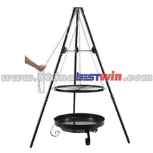 CHEAP OUTDOOR CHARCOAL BBQ GRILL WITH CHAIN
