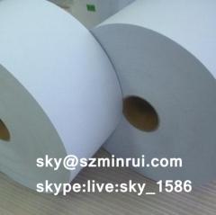 self adhesive fragile paper/self adhesive paper roll/self adhesive security label