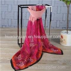 Custom Print Silk Shawl Supplier China