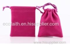 velvet gift bag/ drawstring pouch