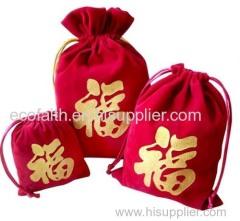 velvet drawstring gift bag