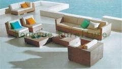 Patio garden wicker rattan sofa furniture set new designs