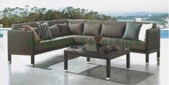 Outdoor patio rattan sectional corner sofa set furniture factory