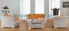 Rattan sofa furniture set for living room or outdoor garden decoration