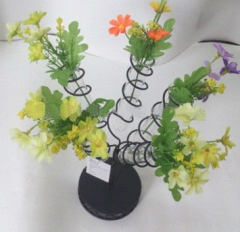 Beautiful Metal Vase for flower art with 5 glass tube
