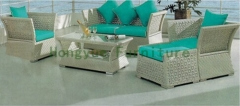 Outdoor garden rattan sofa furniture sets with cushions sale