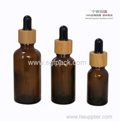 amber color bottle with dark color dropper