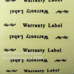 Custom Plastic Print Decal Clear Bottle Label Self Adhesive Printable Waterproof Transparent Clear PET Sticker