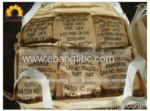 40pcs x 50kg pp bags FIBC sling bag for cement
