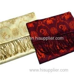 Screen Print Double Layer Custom Silk Scarf China