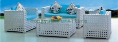 Highly breathable outdoor white rattan two seater sofa sets furniture