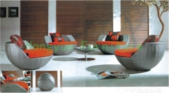 Wicker rattan patio sofa furniture sets from china factory