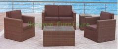 Brown color wicker patio sofa furniture sets supplier
