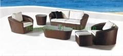Outdoor patio sofa sets furniture in rattan materials