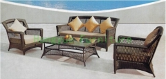 Patio rattan sofa sets outdoor wicker sofa furniture sets with cushions