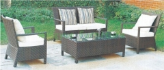 Outdoor patio sofa furniture sets in rattan material from P R C