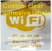 Minrui Uncopied Self Adhesive Custom Warning Labels Stickers from Vinyl Label Material