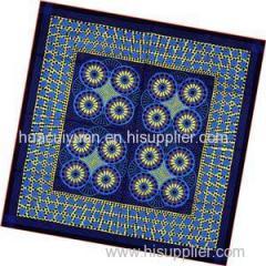 Custom Logo Silk Twill Screen Print Scarf