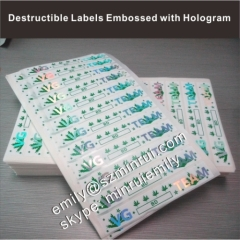 Custom Destructible Security Seal Eggshell Stickers With Hologram Foil Safty Special Security Destructive Labels