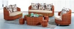 New designs rattan wicker sofa sets furniture for living room