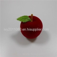Apple Shape Velvet Ring Box
