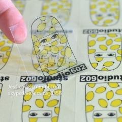 Hot Sale Custom Die Cut Clear Transparent Vinyl Sticker Clear Labels Print Removable Transparent Sticker For Glass