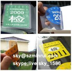 window stickers/electrostatic vinyl sticker/car windshield sticker