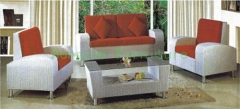 Sofa sets furniture in withe rattan materials for living room