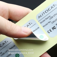Professional Factory Waterproof Adhesive Label Accept OEM Design Matte Silver PET Specification Printing Sticker