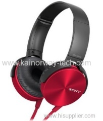 Sony MDRXB450 Extra Bass On-the-ear XB Foldable Headphones Red