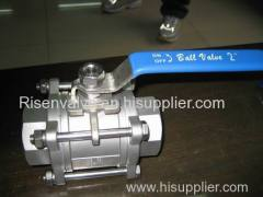 3-PC CAST STEEL BALL VALVE