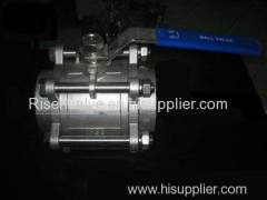 3-PC BUTT WELD STAINLESS STEEL BALL VALVE