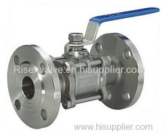 3-PC STAINLESS STEEL BALL VALVE WITH FLANGE END
