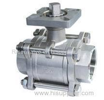 STAINLESS STEEL BALL VALVE WITH MOUNTING PAD