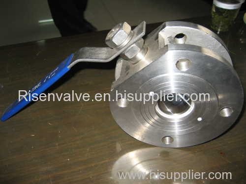WAFER FLANGED STAINLESS STEEL BALL VALVE